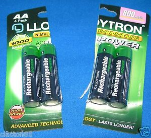 AA RECHARGEABLE BATTERIES x 2 GARDEN/SOLAR/CAMERA/TOYS/PHONES/TOOTHBRUSH/SHAVERS