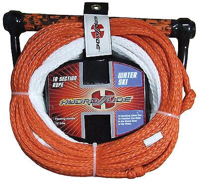 Hydroslide 10 Section 75' Waterski slalom ski rope + rope tidy+ floating handle 10 Section Ski Rope