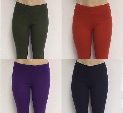 Cotton Spandex Knit Pants - Ladies Cotton Spandex Rib Knit Legging Pant Sizes S-M-L-XL 4 Great Colors NWT S2