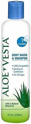 shampoo and body wash aloe vesta bottle