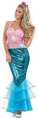 Ladies Sexy Mermaid Mythical Fancy Dress Costume Outfit UK 8-22 Plus Size ()