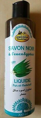 Premium Moroccan Olive And Eucalyptus Oil Black Soap Beldi Savon Noir Hammam200g