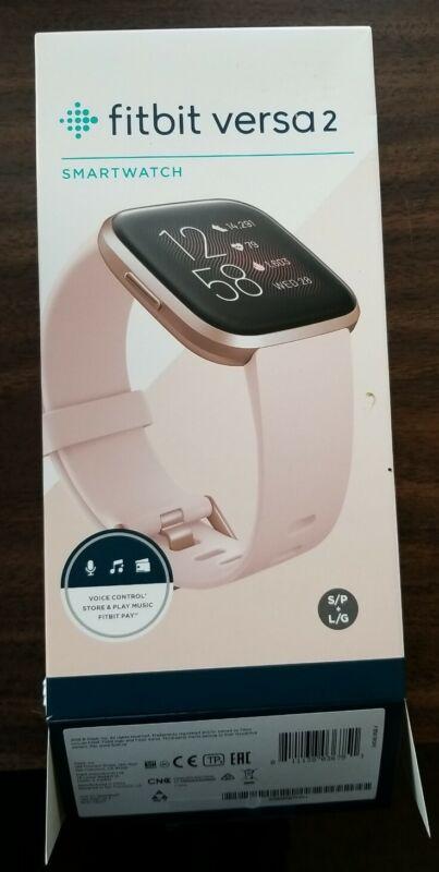 Fitbit Versa 2 Activity Tracker - Petal/Copper Rose