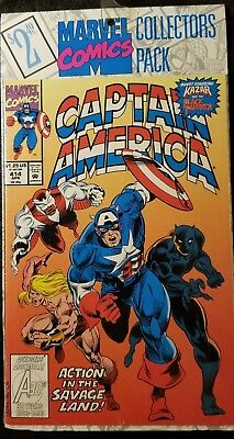 CAPTAIN America #414 Apr. Marvel Comics Collector Pack & The silver surfer #79