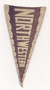 Northwestern-University-Wildcats-1930s-Vintage-Felt-Rare-Mini-Pennant-Football