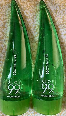 2x Holika Holika Aloe 99% Soothing Gel 55ml In Each  Expiry 2022 NEW