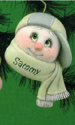 """Ceramic Bisque Ready to Paint Child Sno-Kin Ornament 5"""" tall~FREE SHIPPING ~"""