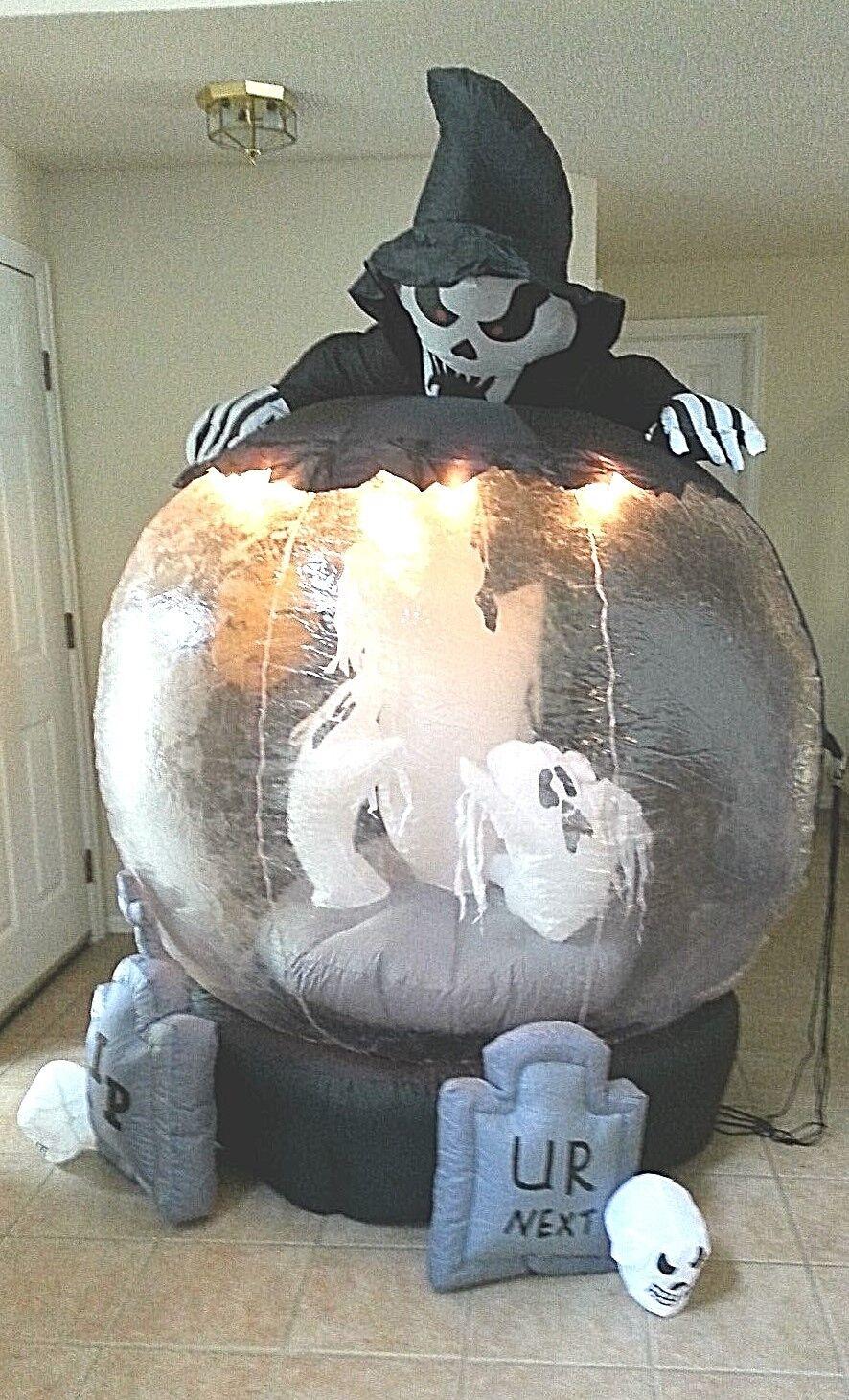 Airblown Inflatable Halloween Rotating Graveyard Globe 8'lights Indoor Outdoor