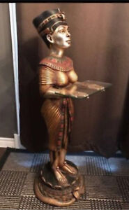 Statue with Glass Table
