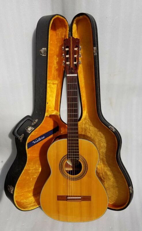 Vtg Espana Made In Finland Rosewood & Spruce Top Classical Guitar Ventura Case