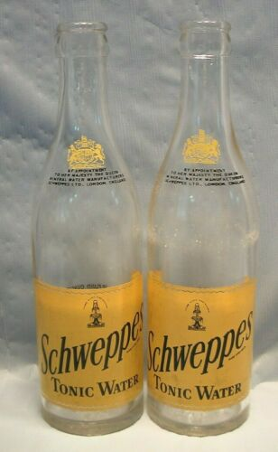 SCHWEPPES CANADA TONIC WATER 10 OUNCE 1954 & 1962 GLASS BOTTLE RETURNABLE ACL