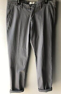 Briglia 1949 Men's Gray Slim Fit Pants Sz 40/54 Made In Italy (Flawed)