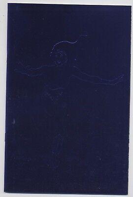 WONDER WOMAN (deutsch) # 1 METALLIC-VARIANT - BLAUES - COVER - PANINI 2001 - TOP