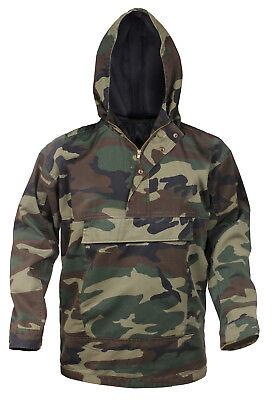 Herren Woodland Camouflage Camo (Herren Woodland Camo Anorak Parka Jacke Camouflage Gefüttert Kapuze Rothco 3847)