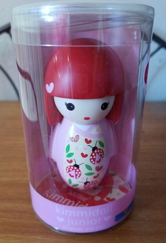 "2012 Kimmidoll Junior Millie Doll 3.5"" Tall Collectible Resin Kokeshi NIB"