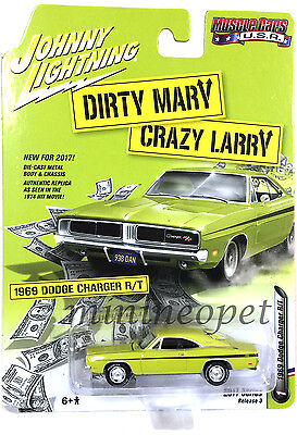 Johnny Lightning Jlcp6000 Dirty Mary Crazy Larry 1969 Dodge Charger R T 1 64