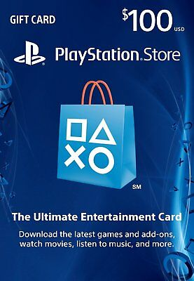 $100 US PlayStation Network Store PSN Gift