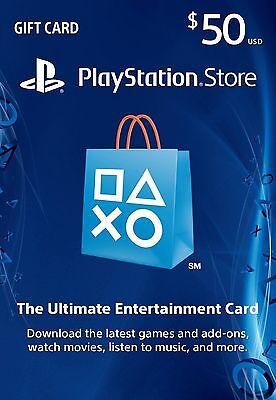 50$ USD PLAYSTATION NETWORK CARD | USA | PSN PS3 PS4 PSP