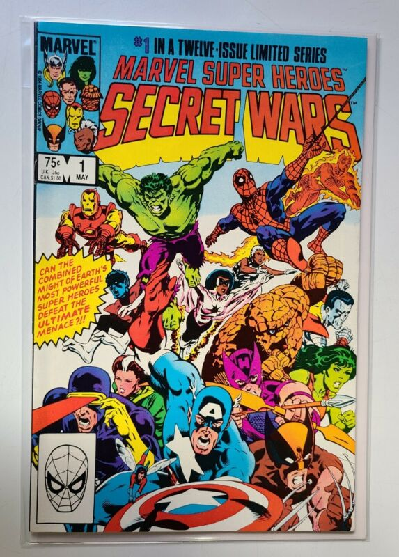 MARVEL SUPER HEROES SECRET WARS #1 BLUE GALACTUS ERROR VARIANT NM- WHITE PAGES