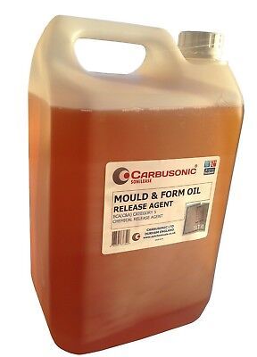 Mould release oil Chemical releasing agent for concrete moldings  site work 1lt