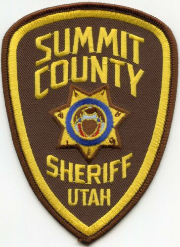 SUMMIT COUNTY UTAH UT Light Brown Background SHERIFF POLICE PATCH