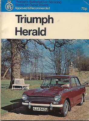 Triumph Herald from 1959 948 1147 1296c Pearsons Illustrated Car Servicing Guide