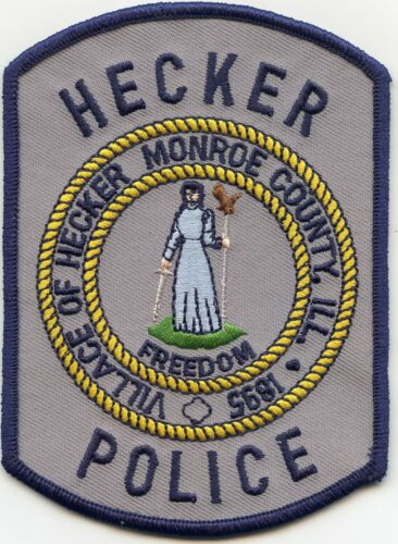HECKER ILLINOIS IL Monroe County POLICE PATCH