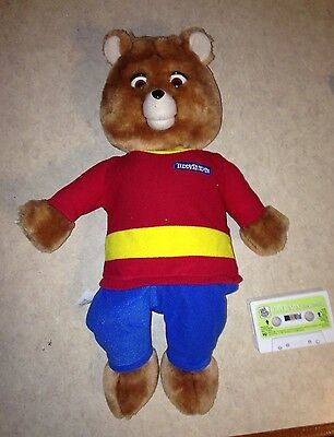 Teddy Ruxpin The New World Bear Plush Talking 1998 Airship Tape Non-Working Toy