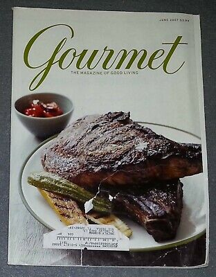 Gourmet Magazine - June 2007 How To Grill Everything (Front Cover Ripped) Gourmet Magazine Covers