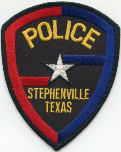 STEPHENVILLE TEXAS TX colorful POLICE PATCH
