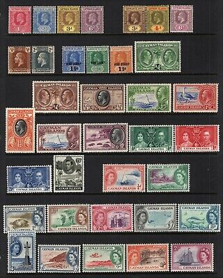 Cayman Islands 1907-53 Mint Selection 36 Stamps With Better