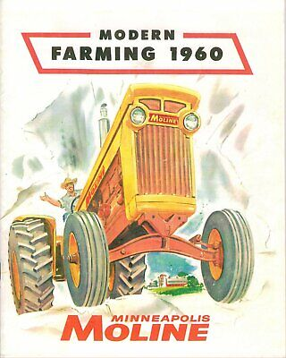 Minneapolis-moline Modern Farming 1960 Dealer Sales Brochure - Color Reprint