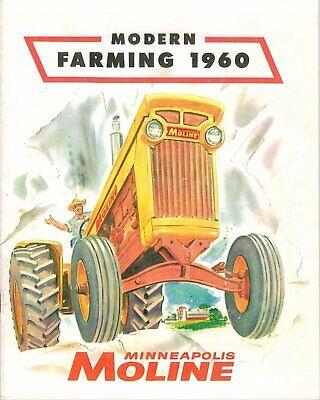 Minneapolis-moline Modern Farming 1960 Dealer Sales Brochure - Color Reprint