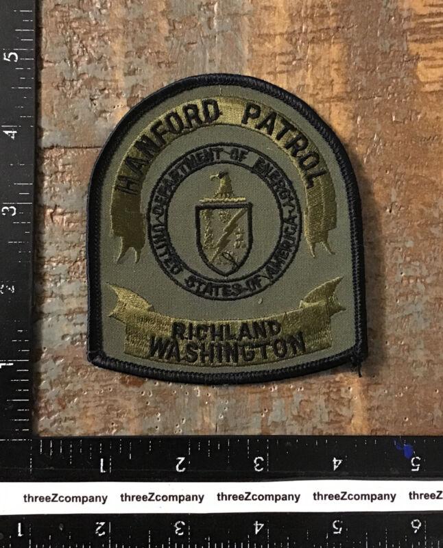 Vtg Hanford Patrol Richland Washington Department Of Energy Subdued Patch