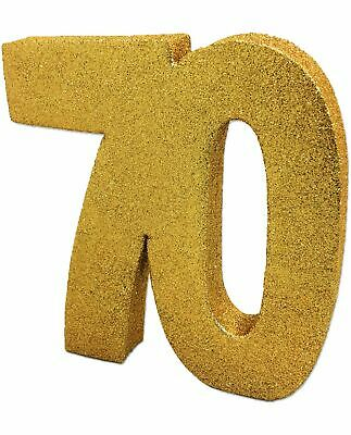 GOLD GLITTER TABLE DECORATION 70 YEARS 70th BIRTHDAY PARTY 8