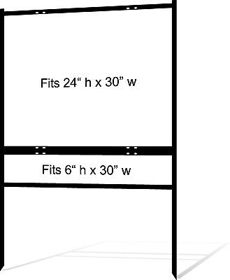 4-pack Real Estate Yard Sign Metal Frames - 24 X 30 - Free Shipping