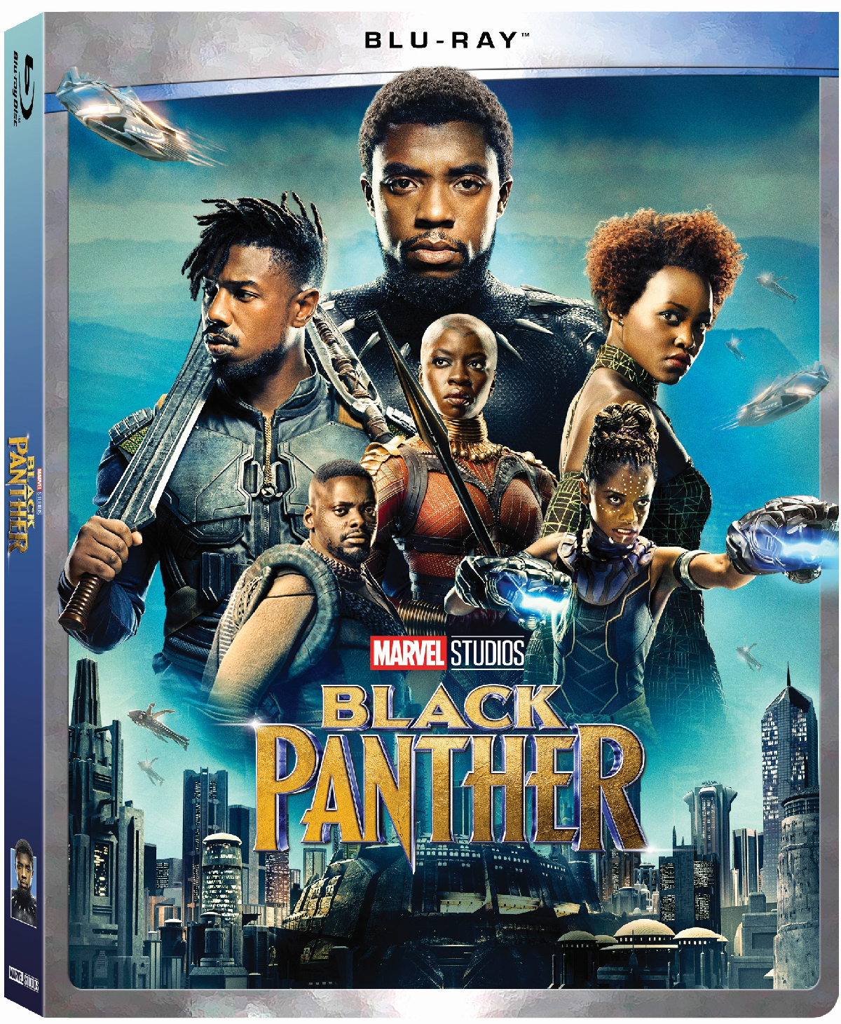 MARVEL'S BLACK PANTHER (Blu-ray) 2018 w/ SLIP COVER **FREE SHIPPING**