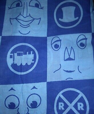 Thomas the Tank Engine and Friends FULL Sheet Set Blue & Lught Blue Craft Fabric