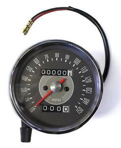 Triumph Smiths Type Grey Face Speedometer - 150 MPH / 1.25:1 [65-50471]