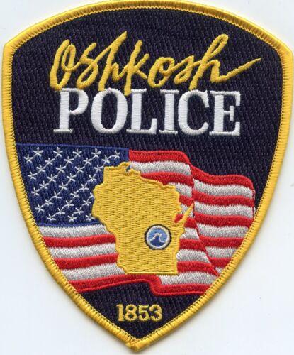OSHKOSH WISCONSIN WI colorful POLICE PATCH