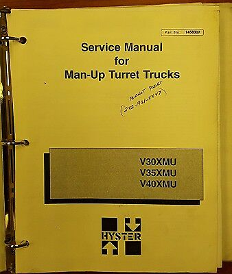 Hyster Service Manual For Man-up Turret Trucks V30-40xmu 1458307