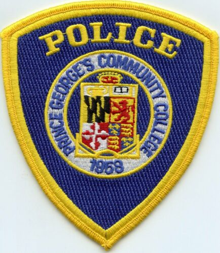 PRINCE GEORGES COMMUNITY COLLEGE MARYLAND MD University POLICE PATCH