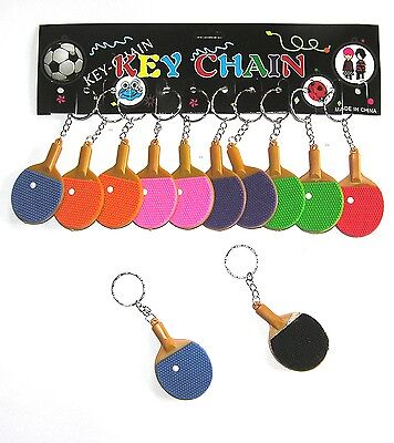 12 Schlüsselanhänger Tischtennis Schläger  Kindergeburtstag Verein Mitgebsel neu