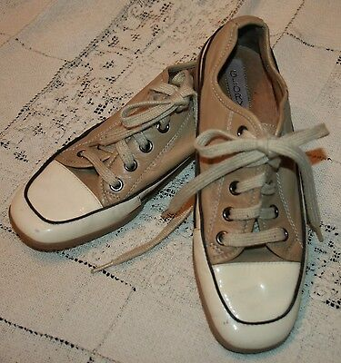 Damen Sattel Schuhe (Glory Damen Schuhe Sz 5M 5 Beige Creme Lackleder Sattel Freizeit Athletic)