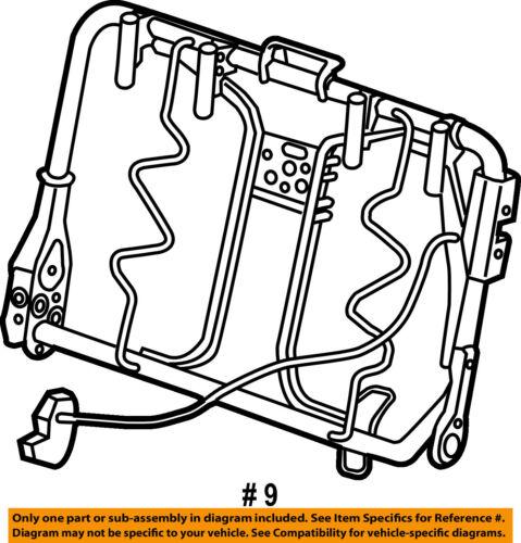 Ram Chrysler Oem 15 18 Promaster City Rear Seat Seat Back Frame Left