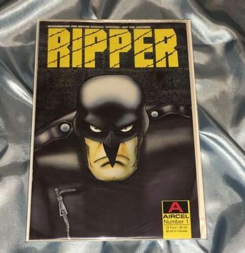 RIPPER #1~AIRCEL COMICS~FACTORY SEALED~BLACK/WHITE INDEPENDENT