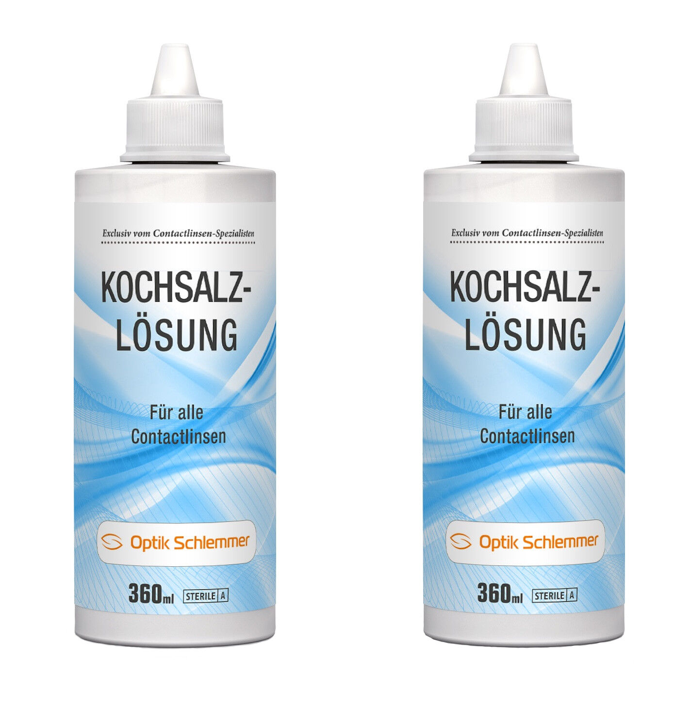 Optik Schlemmer Kochsalzlösung für alle Kontaktlinsen 2 x 360 ml