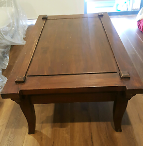 Dark Vintage Solid Wood Coffee Table Homebush Strathfield Area Preview