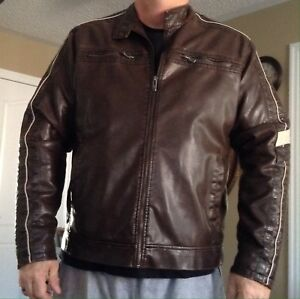 Men's 2XL leather-look jacket
