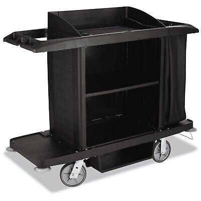 Rubbermaid Fg618900bla Housekeeping Cart 22w X 60d X 50h Black